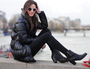 С какой обувью надеть женский пуховик?