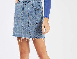 Джинсовая юбка – вещь на все времена