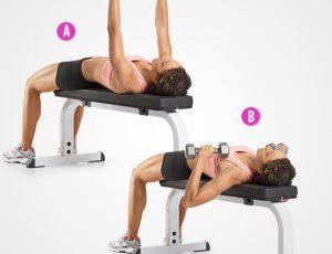 4 упражнения для красивой груди