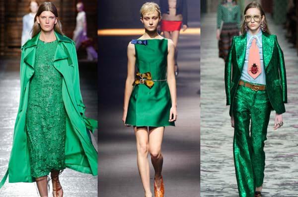Зелёный цвет возвращается в моду