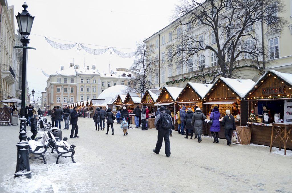 Новогодние праздники во Львове