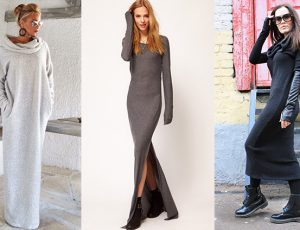 Длинное платье или юбка на зиму — тепло и уютно