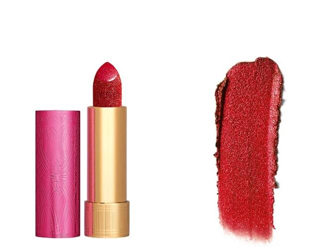 Pink winter: темно-розовая помада Gucci с эффектом мерцания