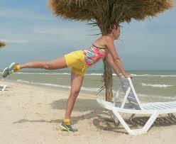 Необычные приспособления для фитнеса: шезлонг