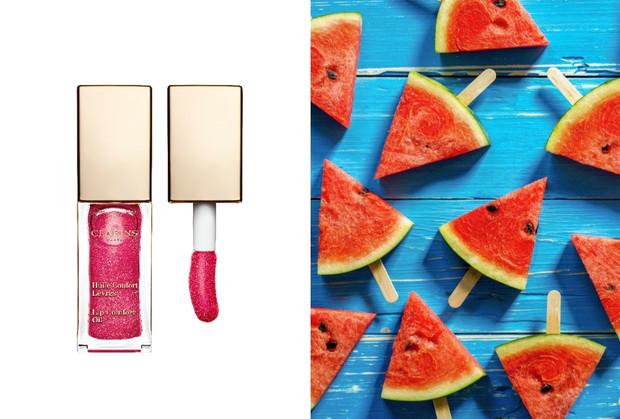 В цветах спелого арбуза: розовое и зеленое масло-блеск для губ Clarins