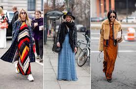 Как и с чем носить платье макси