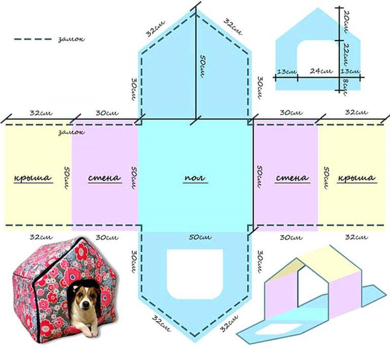 Как сшить домик для собаки?
