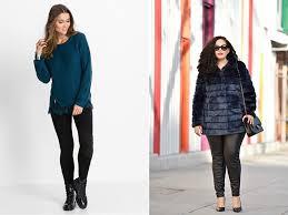 С чем парижские модницы носят легинсы в холодное время года
